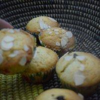 Chocolate chip Almond flake muffins